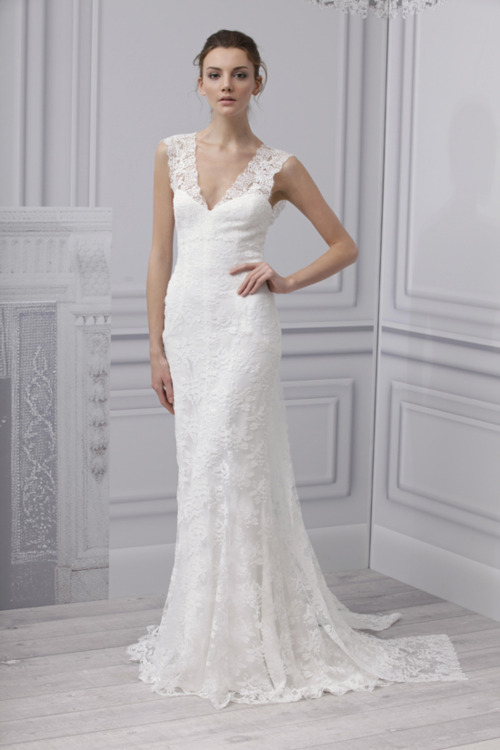 Robe de Mariée : Monique LHUILLIER Collection Bridal Spring 2013