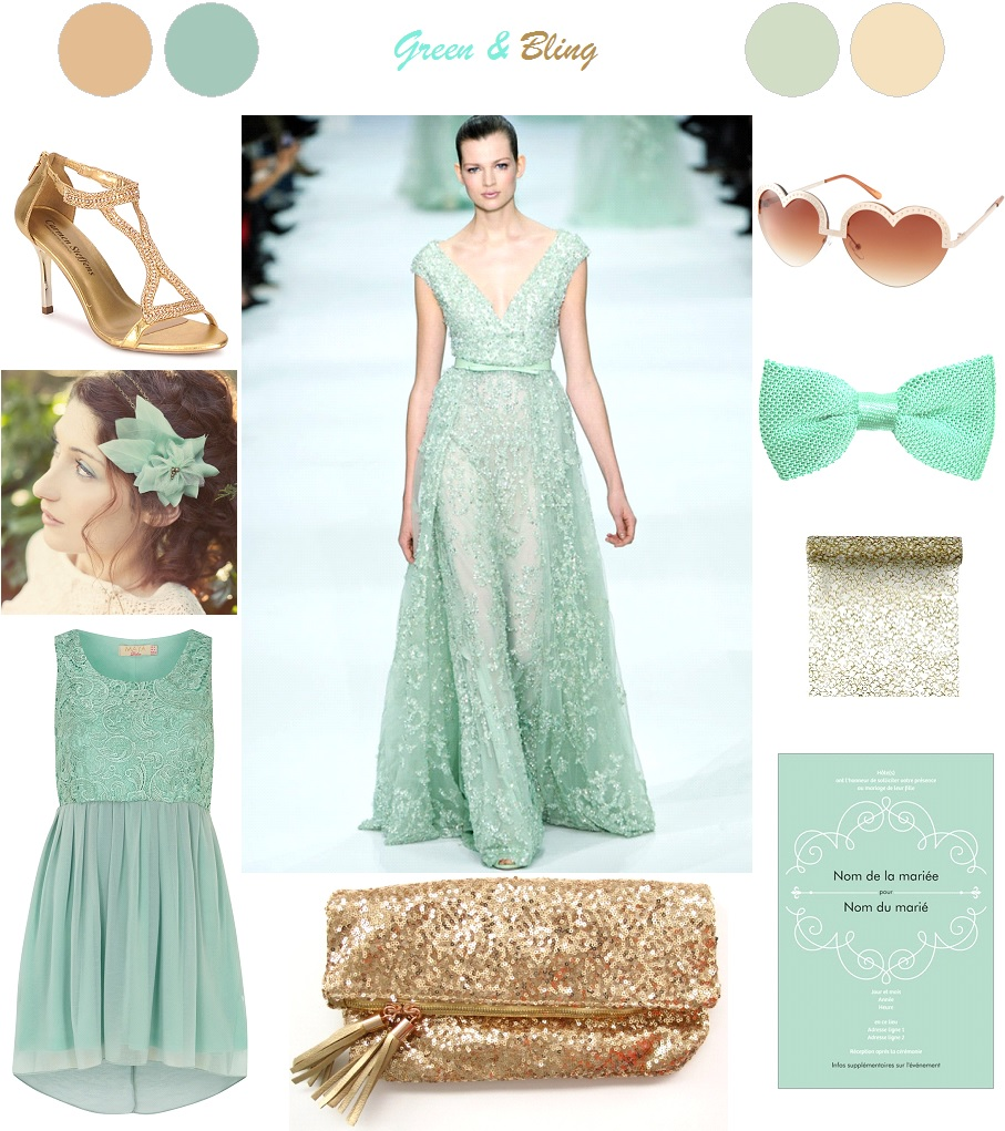 Inspiration : Green & Bling