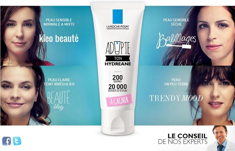 Concours La Roche Posay «Adopte ton hydreane»