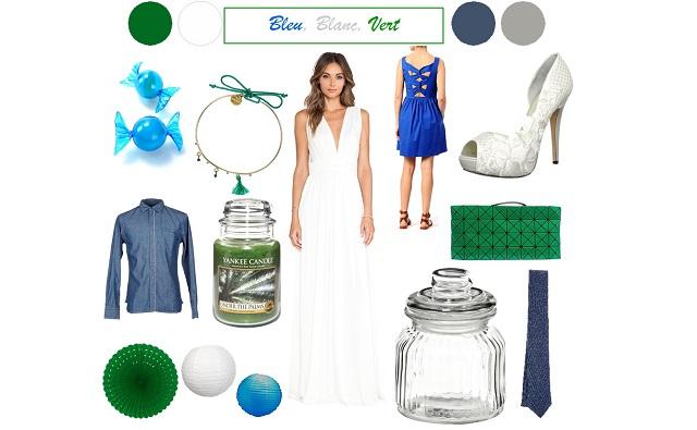{Inspiration} Mariage en bleu, blanc et vert