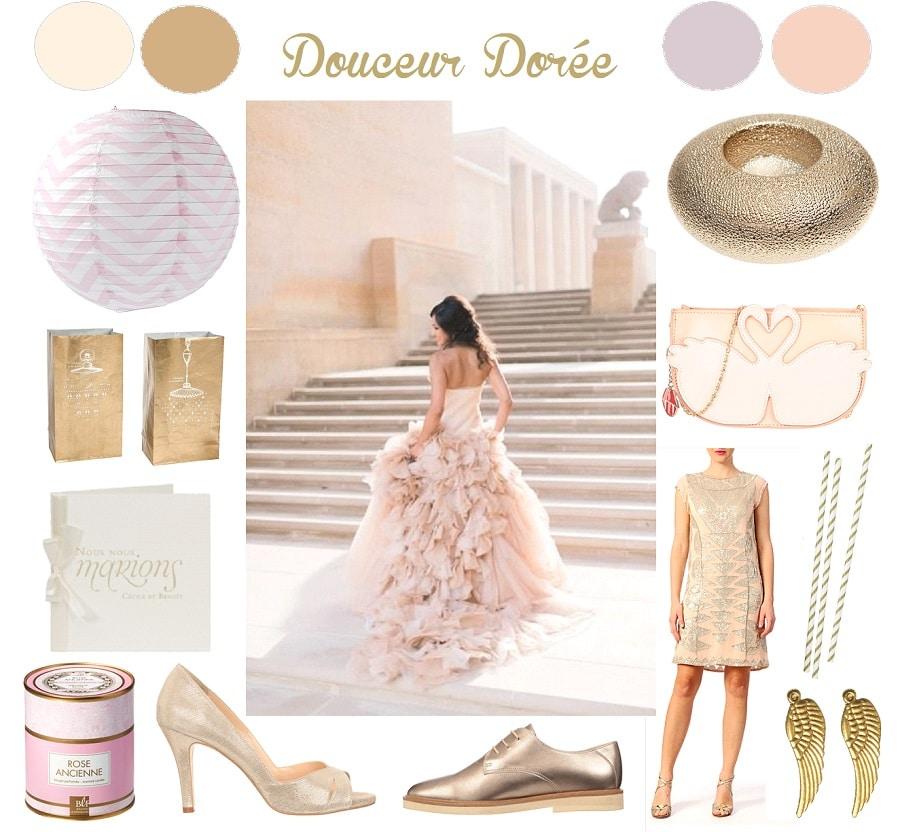 {Inspiration} Mariage rose & doré