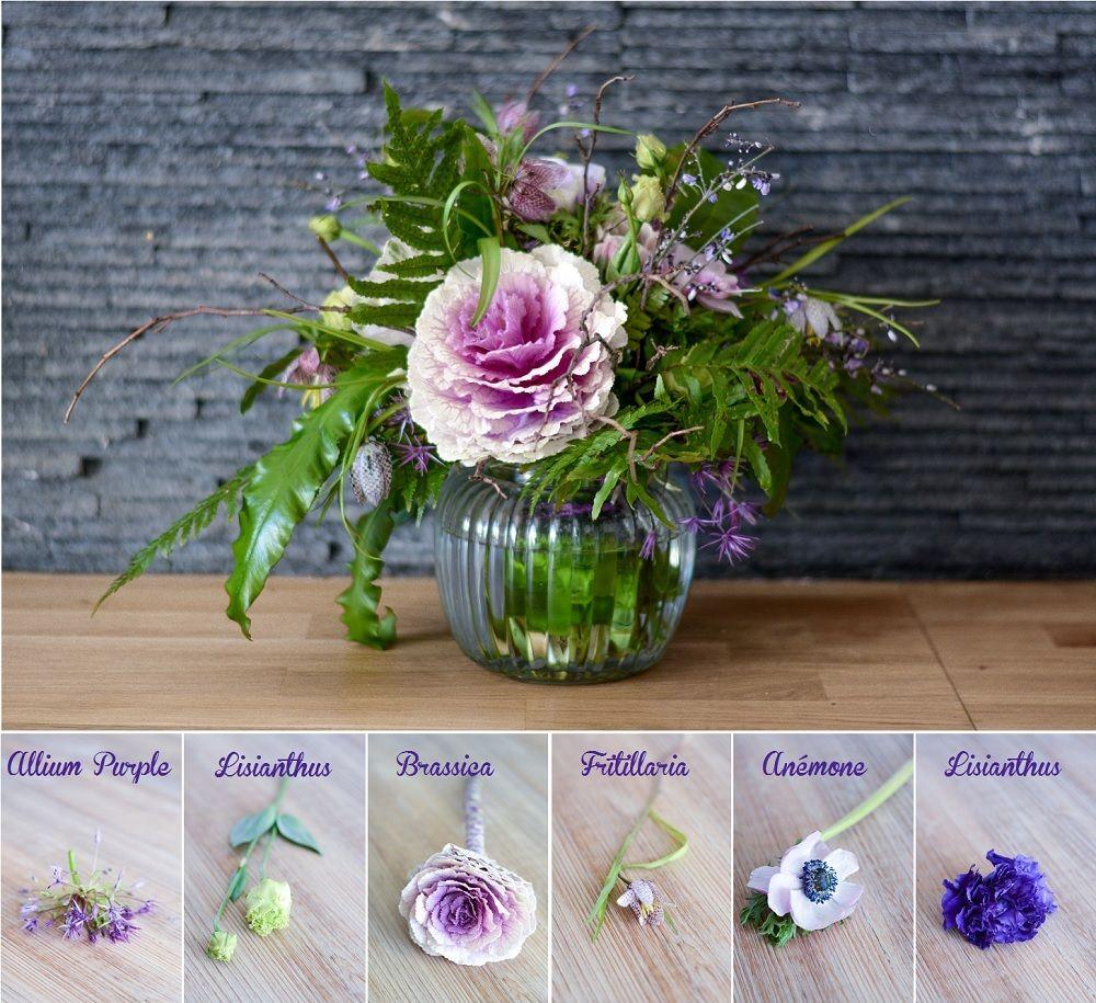 bouquet de mariée violet et rose