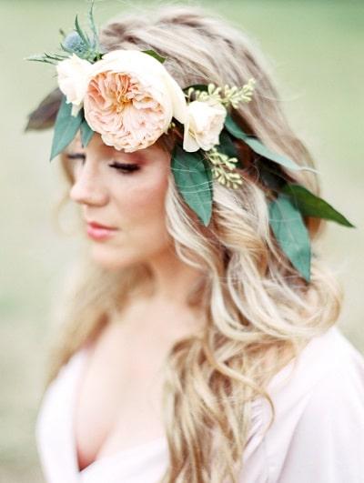 couronne de fleurs mariage mode