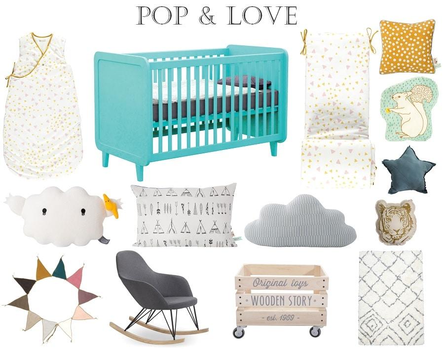 décoration chambre bébé unisexe