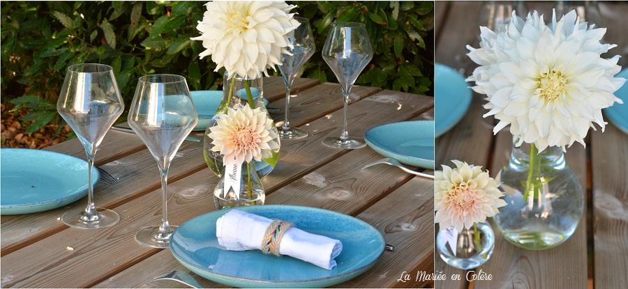 marque place original mariage fleurs