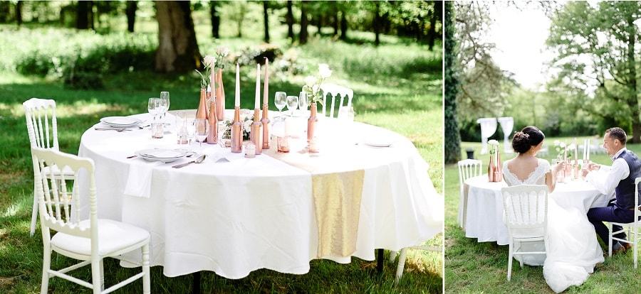 décoration mariage cuivre