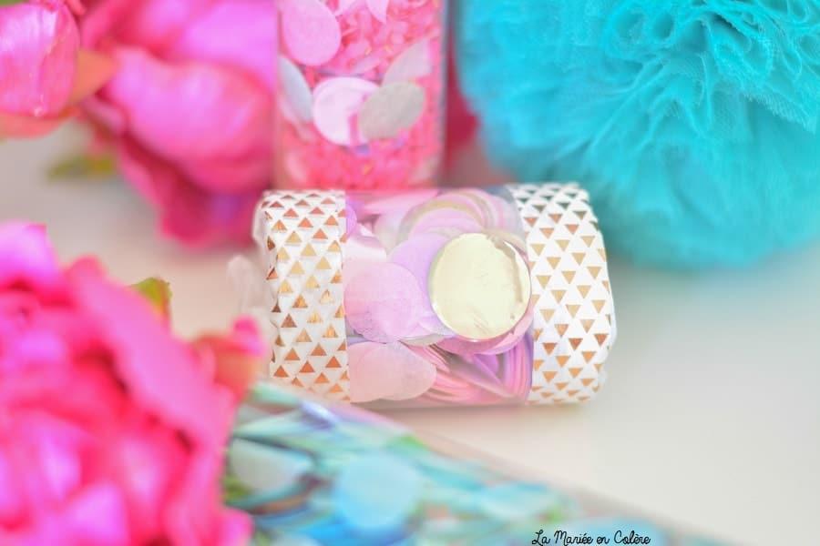 canons confettis mariage