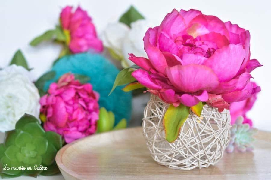 DIY simple boules ficelles tuto mariage