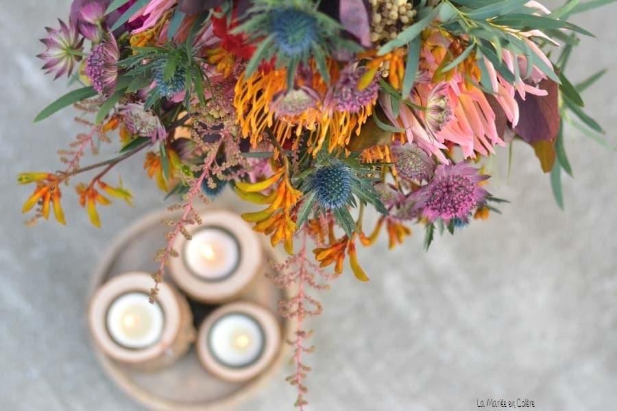 bouquet fleurs mariée