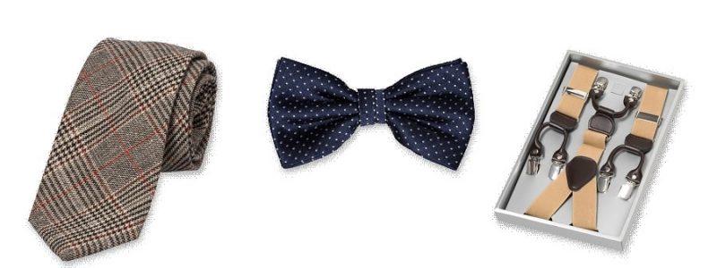 Cravate, nœud-papillon, bretelles… quels accessoires prévoir pour le futur marié ?