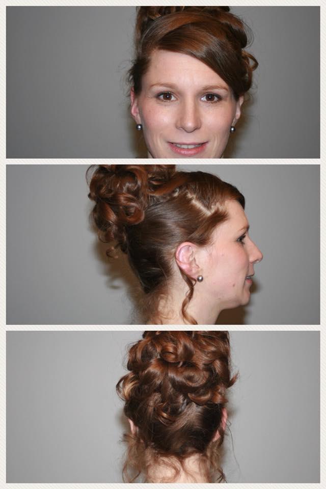 chignon haut coiffure mariage