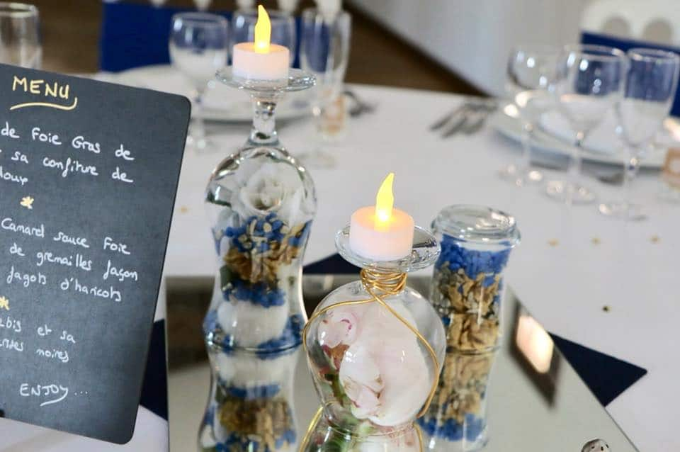 centre de table mariage original