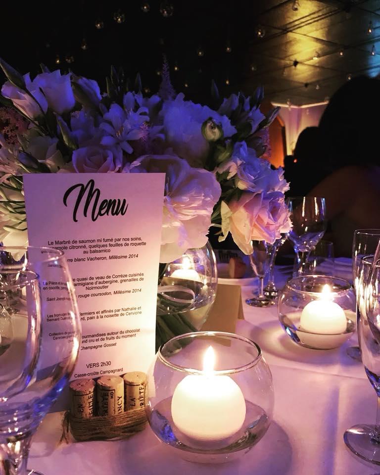 centre de table bouchons de vin mariage