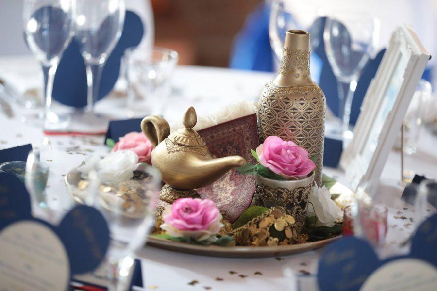 thème mariage disney table Aladin