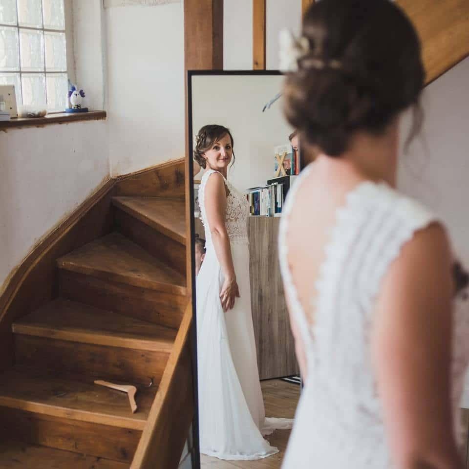 robe de mariée dentelle bustier