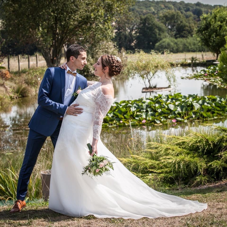robe de mariée dentelle calais manches longues