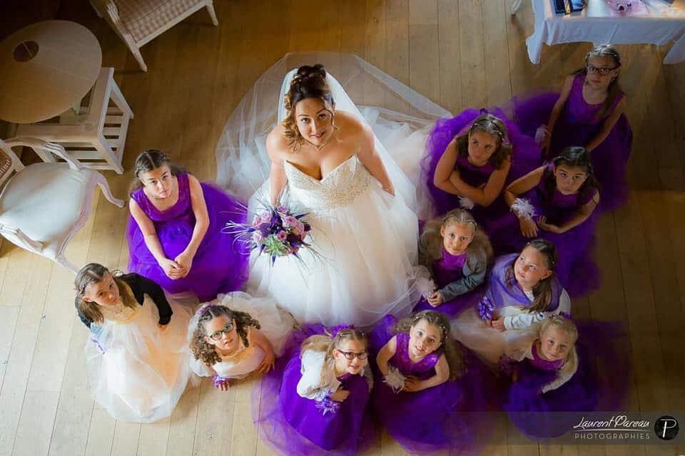 robe de mariée princesse bustier