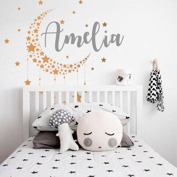 stickers prénom chambre enfant