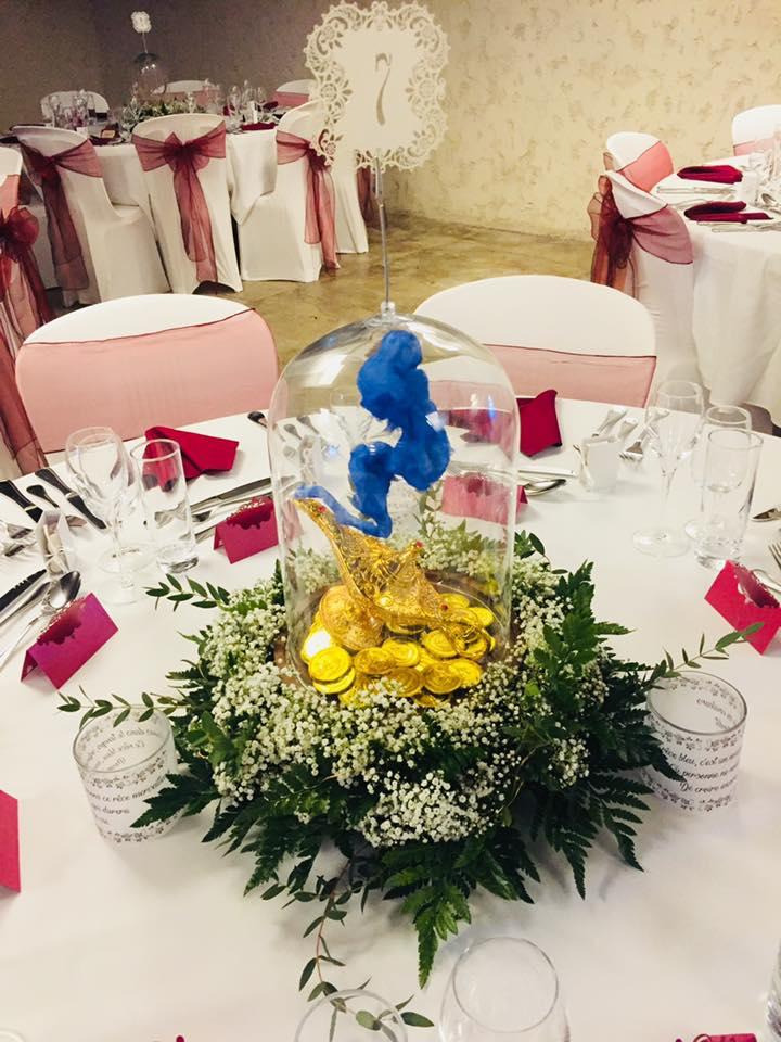 table mariage thème conte de fée