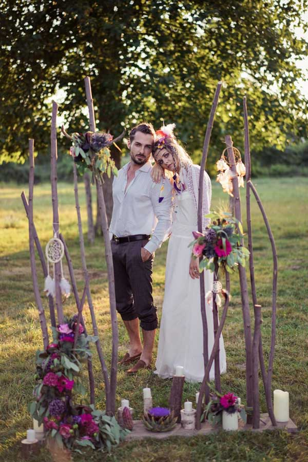 décoration mariage hippie bohème