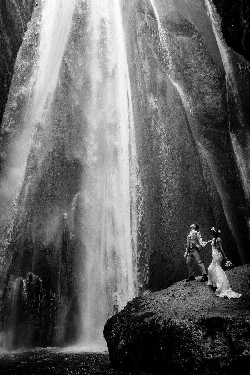 mariés islande cascade