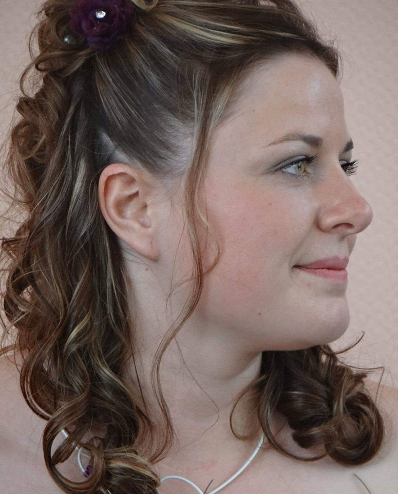 coiffure mariée demie-queue