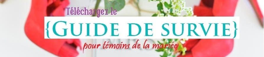 guide témoins mariage