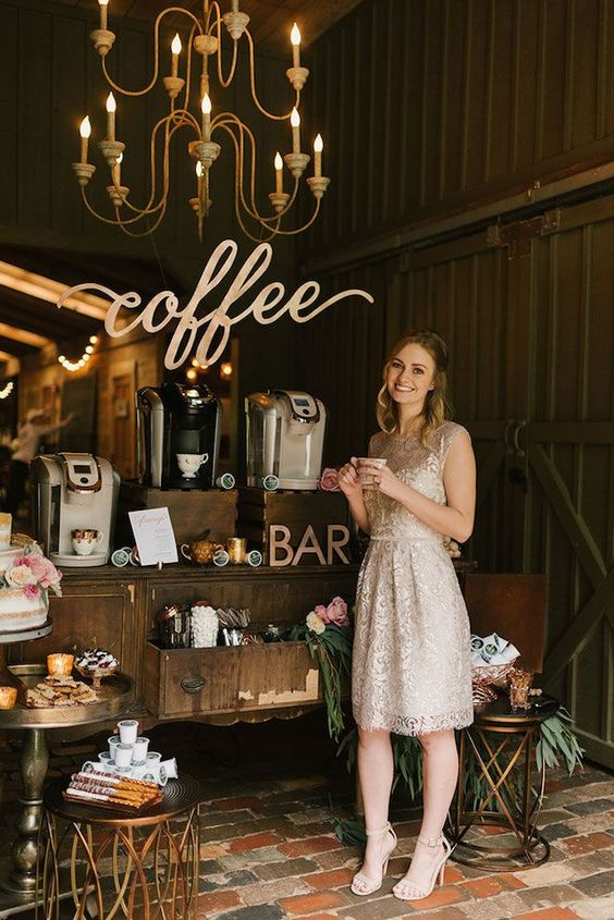 bar à café mariage