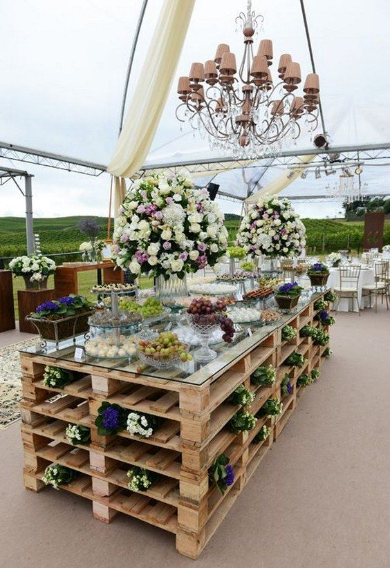 buffet mariage palettes