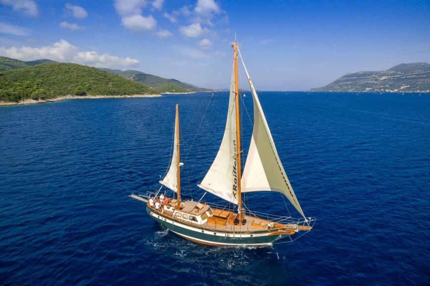 goelette voyage de noces bateau
