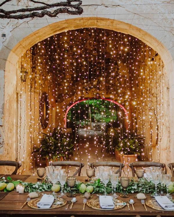 guirlande lumière mariage