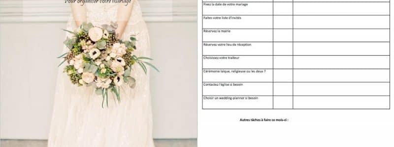 Téléchargez votre planning d'organisation mariage mois par mois